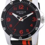 Mike Ellis New York Herren-Armbanduhr XL Analog Quarz Textil M3145/1 B00GY8CLHM