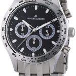 Jacques Lemans Herren-Armbanduhr XL Capri Chronograph Quarz Edelstahl 1-1329C B00GUJROJ0