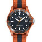 s.Oliver Herren-Armbanduhr XL Analog Quarz Textil SO-2687-LQ B00BKVZ058