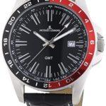 Jacques Lemans Herren-Armbanduhr XL Analog Quarz Leder 1-1328A B00E58EX92