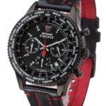 Detomaso Herren-Armbanduhr FIRENZE Chronograph Black Dial Leder Quarz Leder B0099MICY6