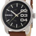 Diesel Herren-Armbanduhr XL Franchise-46 Analog Quarz Leder DZ1513 B0062OBXMM