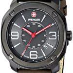 Wenger Herren-Armbanduhr XL Escort Analog Quarz Leder 01.1051.104 B00JQ96IF2