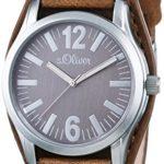 s.Oliver UNISEX-Armbanduhr Analog Quarz Leder SO-2936-LQ B00KYTFUES