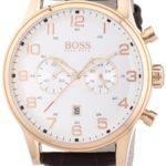 Hugo Boss Herren-Armbanduhr XL Analog Quarz Leder 1512921 B00FAPZ4GK