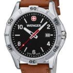 Wenger Herren-Armbanduhr XL Platoon Analog Quarz Leder 01.9411.103 B00DIT2F2G