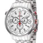 Detomaso Herren-Armbanduhr XL AURINO Chronograph Silver/White Chronograph Quarz Edelstahl DT1061-D B00IOQH9CY