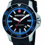 Wenger Herren-Armbanduhr XL Seaforce Analog Quarz Silikon 01.0641.104 B008CDOI1E