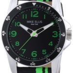 Mike Ellis New York Herren-Armbanduhr XL Analog Quarz Textil M3145 B00GY8CLKE