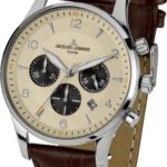 Jacques Lemans Herren-Armbanduhr XL London Chronograph Quarz Leder 1-1654E B00GN9PI4A