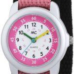 MC Timetrend Mädchen-Armbanduhr Blume Lernuhr Quarz Textil 50872 B00AEJA9GM
