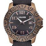 s.Oliver Herren-Armbanduhr XL Analog Quarz Leder SO-2933-LQ B00KYTFTS0