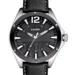 s.Oliver Herren-Armbanduhr XL Analog Quarz Leder SO-2829-LQ B00E0CENE8