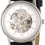 Jacques Lemans N-207A NOSTALGIE Mechanisch Damen Uhr Damenuhr Lederarmband Edelstahl 50m Analog schwarz B00CY8H0E0