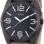 Guess Herren-Armbanduhr XL Mens Trend Analog Quarz Leder W0181G3 B00B84DQPI