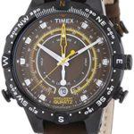 Timex Herren-Armbanduhr XL Tide Temp Compass Analog Quarz Leder T2P141 B00BFQIER4