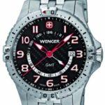 Wenger Herren-Armbanduhr XL Squadron GMT Analog Quarz Edelstahl 77076 B0052WC20W