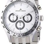 Jacques Lemans Herren-Armbanduhr XL Capri Chronograph Quarz Edelstahl 1-1329D B00GUJROHM