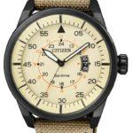 Citizen Herren-Armbanduhr XL Analog Quarz Textil AW1365-19P B00HH7TQFO