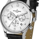 Jacques Lemans Herren-Armbanduhr XL London Chronograph Quarz Leder 1-1654B B00F306MSQ