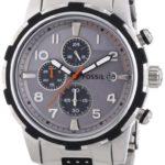 Fossil Herren-Armbanduhr XL Dean Chronograph Quarz verschiedene Materialien FS4888 B00ID6ZRZ6