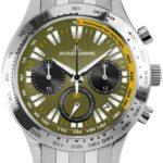 Jacques Lemans Herren-Armbanduhr XL Capri Chronograph Quarz Edelstahl 1-1329F B00GUJROKY