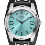 s.Oliver Herren-Armbanduhr XL Analog Quarz Leder SO-2882-LQ B00H9F5856