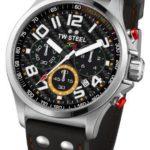TW Steel Herren-Armbanduhr XL Pilot Sonder Edition Chronograph Quarz Leder TW-433 B00FXN9V2C