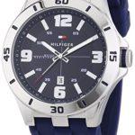 Tommy Hilfiger Watches Herren-Armbanduhr XL DREW Analog Quarz Silikon 1791062 B00MLYDDTI