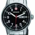 Wenger Herren-Armbanduhr XL Commando Day Date  Analog Quarz Edelstahl 70163.XL B004VQF4UA