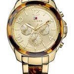 Tommy Hilfiger Damen-Armbanduhr SERENA Multi Rosegold/White Analog Quarz (One Size, gold) B00MOZXF6K