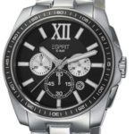 Esprit Herren-Armbanduhr Meridian Chrono Silver Black Chronograph Quarz Edelstahl ES103591004 B00BU07HVY