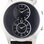 Guess Herren-Armbanduhr XL Analog Quarz Leder W0376G1 B00I9CMVEY