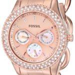 Fossil Damen-Armbanduhr Stella Analog Quarz Edelstahl ES3500 B00HVB7PKO