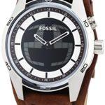 Fossil Herren-Armbanduhr XL Coachman Analog – Digital Quarz Leder JR1471 B00M9U8ED4
