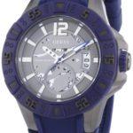 Guess Herren-Armbanduhr XL Magnum Analog Quarz Silikon W0034G6 B008YLBZ9C