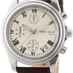 Mike Ellis New York Herren-Armbanduhr Chronograph Quarz Leder M2450SSL/1 B00DIR7PN2