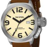 TW Steel TW-STEEL Armbanduhr Canteen Style TW-1, Braun B000P29BEY