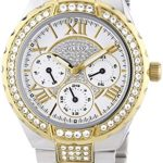 Guess Damen-Armbanduhr XL Analog Quarz Edelstahl W0111L5 B00FAPQL0I