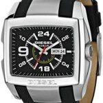 Diesel Herren-Armbanduhr Bugout Analog Quarz Leder DZ1215 B001KZJKJ6
