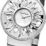 Jacques Lemans Damen-Armbanduhr XL Flora Analog Quarz Edelstahl 1-1700D B00GN9PQDS