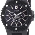 Guess Herren-Armbanduhr XL Overdrive Multifunktion Analog Quarz Silikon W11619G1 B0070KKFC6