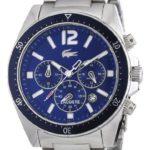 Lacoste Herren-Armbanduhr XL Analog Quarz Edelstahl 2010641 B008U798NU