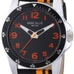 Mike Ellis New York Herren-Armbanduhr XL Analog Quarz Textil M3145/3 B00GY8BLDM