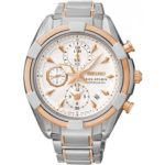 Seiko Damen-Armbanduhr Velatura Chronograph Quarz Edelstahl SNDW58P1 B00MCBF032