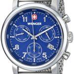 Wenger Herren-Armbanduhr Urban Classic Chrono Analog edelstahl Silber 011043101 B00JTRGMRA