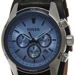 Fossil Herren-Armbanduhr Chronograph Leder schwarz Sport CH2564 B001T6OPZ0