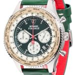 Detomaso Herren-Armbanduhr XL FIRENZE RACING XXL Green Classic Chronograph Quarz Leder DT1045-B B00QGXJ11E