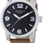 Mike Ellis New York Herren-Armbanduhr XL a:ne Analog Quarz Leder SL4316/3 B00KW4Q198