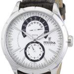 Festina Herren-Armbanduhr XL Analog Quarz Leder F16573/2 B005MNEO6Q